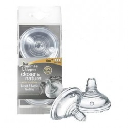 TETINA TOMMEE TIPPEE SILICONA EASI VENT FLUJO...