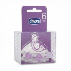TETINA CHICCO SILICONA STEP UP 3 6M+ FLUJO...